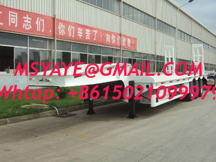 China 90 ton low bed Semi-trailer with 4-axles excavator trailer. low loader china supplier