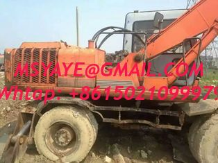 China used hitachi excavator ex160wd wheel excavator for sale EX100WD-2 Used and New Wheeled excavators For Sale supplier