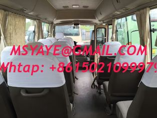 China 23 seats used Toyota diesel coaster bus left hand drive   engine 6 cylinder   japan coaster bus toyota supplier