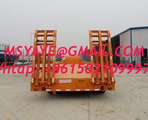 China 70t 60t 80t brand new china  lowbed Semi-trailer 13m 16m with 4-axles excavator trailer. excavator trailer supplier