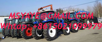 China 4wd 4*4 used farm tractors with loaders flat tyre  steering hydraulic tractor with front end loader tractor supplier