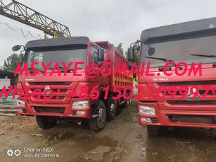 China 2015 made in china tractor head 8*4 12 Tires Sinotruck Howo tipper  dump truck supplier