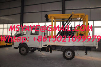 China mini truck STEEL TRACK CRAWLER WATER WELL DRILLING  machine portable truck mounted water well drilling rig supplier