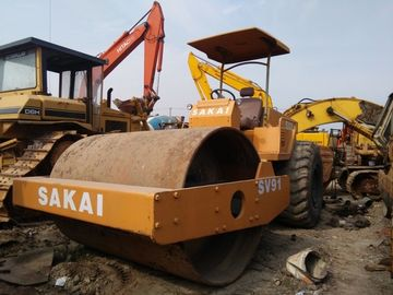 China used compactor  SAKAI used road roller Model SV90 SV91 made in Japan Vibratory Smooth Drum Roller  used in shanghai factory