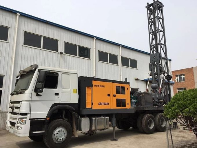 SRJKC100 1000m TRUCK MOUNTED WATER WELL DRILLING RIG   small water well drilling rig water well borehole drilling rig